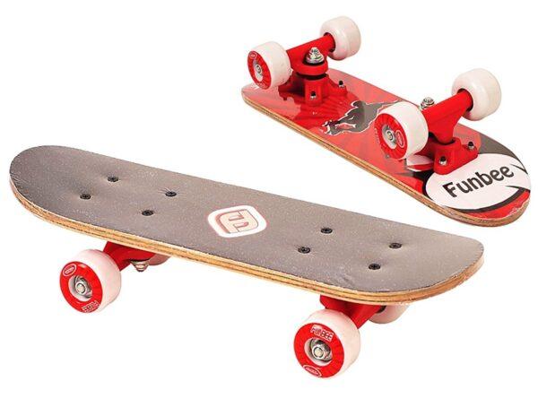 Детски мини скейтборд, FUNBEE - червен - Играчки за навън - Скейтборд за деца