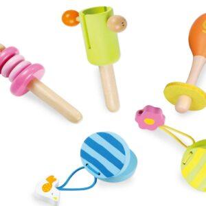 Детски музикален комплект - Детски играчки - Музикални инструменти - Дървени играчки