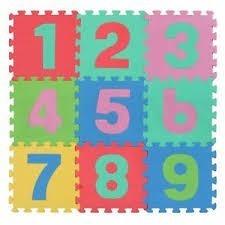Детски образователен пъзел килим с цифри от 1 до 9 - Детски играчки - Детски килими за игра