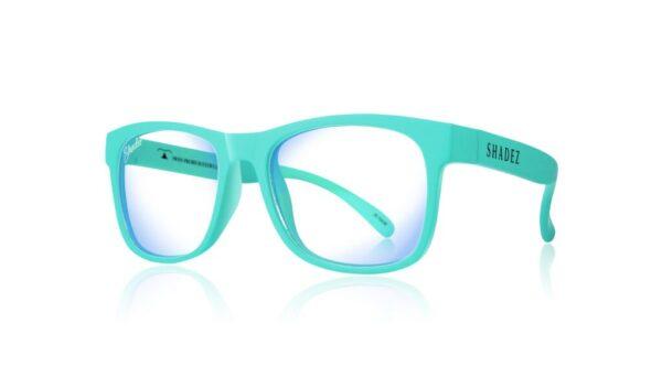 Детски очила за работа с компютър Shadez Blue Light 7+ години тюркоазени - Слънчеви очила