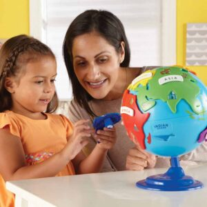 Детски пъзел - Глобус с континенти - Детски играчки - Образователни играчки - Пъзели - Пъзели