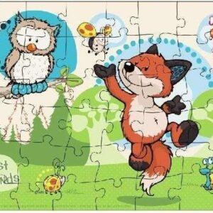 Детски пъзел - Горските животни - Детски играчки - Пъзели - Пъзели