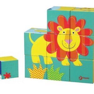 Детски пъзел с кубчета - Лъвче - Детски играчки - Пъзели - Дървени играчки - Пъзели