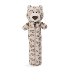Детски плюшен несесер - снежен леопард - за момче, 25 см - Детски играчки - Ученически пособия - Плюшени играчки - Ученически несесери - За детето