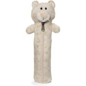 Детски плюшен несесер - снежен леопард - за момиче, 25 см - Детски играчки - Ученически пособия - Плюшени играчки - Ученически несесери - За детето