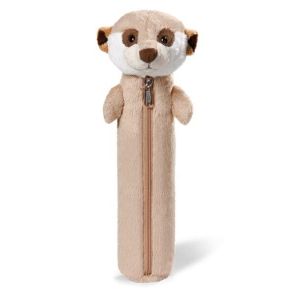 Детски плюшен несесер - сурикат, 25 см - Детски играчки - Ученически пособия - Плюшени играчки - Ученически несесери - За детето