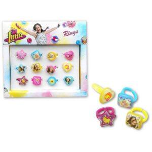 Детски пръстени Soy Luna - 12 бр. - Детски играчки - Детски гримове, комплекти и аксесоари - Soy Luna