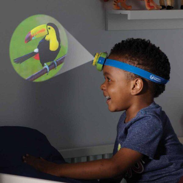Детски прожектор - тип челник, Диви Животни - Детски играчки