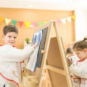 Детски регулируем статив за рисуване - Мебели и играчки за детски градини и центрове - Мебели за детски градини и центрове - Творческо и музикално обучение за деца