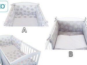 Детски спален комплект от 3 части бял - За бебето - Аксесоари за детска стая - Спални комплекти бельо