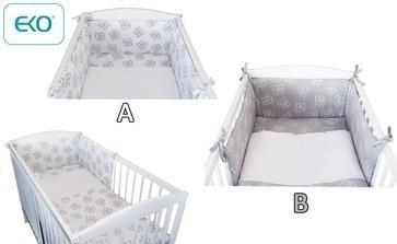 Детски спален комплект от 3 части сив - За бебето - Аксесоари за детска стая - Спални комплекти бельо
