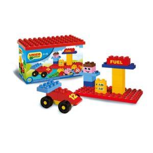 Детски строител - бензиностанция, Unico - Детски играчки - Конструктори