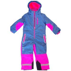 Детски зимен екип Гащеризон, Дънково синьо-розово - Детски дрехи и обувки - Зимни спортни екипи