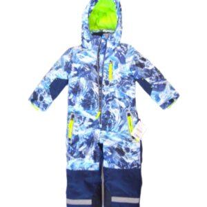 Детски зимен спортен екип Космонавт, Синьо-бял - Детски дрехи и обувки - Зимни спортни екипи
