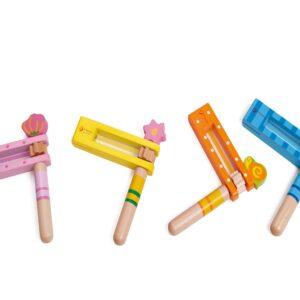 Детско дървено кречетало - Детски играчки - Музикални инструменти - Дървени играчки