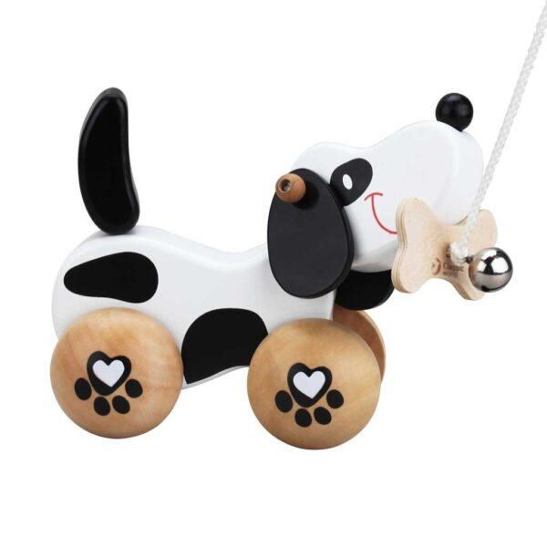 Детско дървено кученце за дърпане - Детски играчки - За дърпане и бутане - Дървени играчки