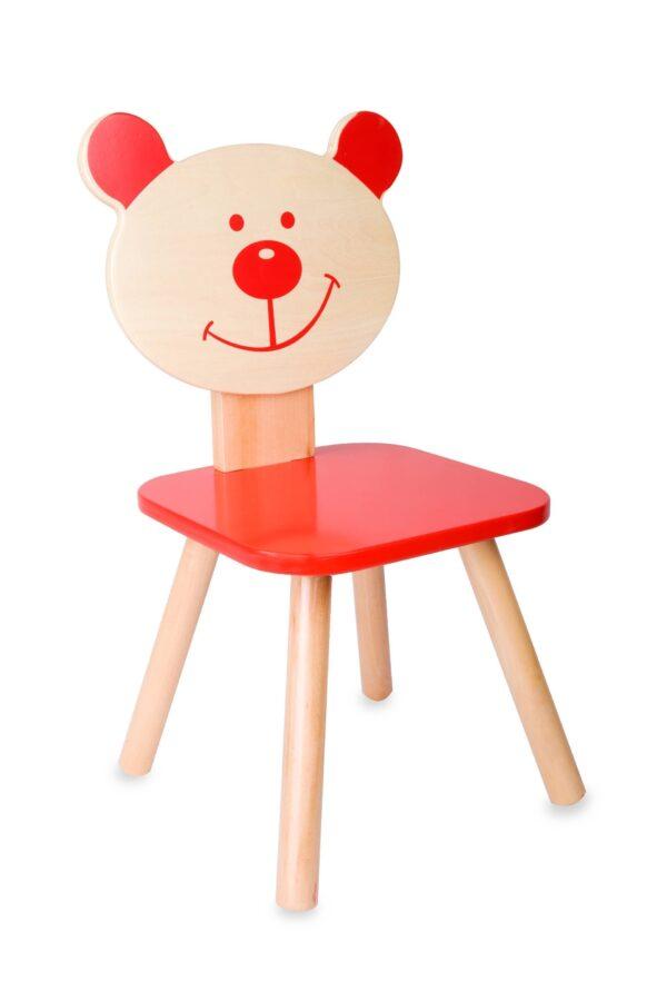 Детско дървено столче - мече - Детски играчки - Къщи за игра, маси и столове - За детето - Аксесоари и текстил за детска стая - Дървени играчки
