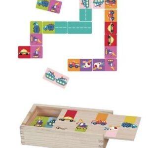 Детско домино с превозни средства - Детски играчки - Образователни играчки - Дървени играчки