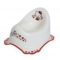 Детско гърне Hello Kitty с гумирана основа бяло - За бебето - Детска и бебешка тоалетна - Гърнета - Hello Kitty