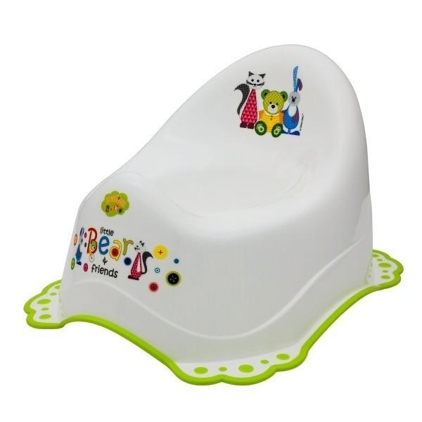 Детско гърне Little Bears & friends с гумирана основа бяло - За бебето - Детска и бебешка тоалетна - Гърнета