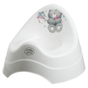 Детско гърне - Меченца перлено бяло - За бебето - Детска и бебешка тоалетна - Гърнета