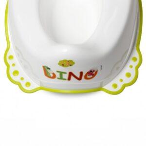 Детско гърне с гумена основа Дино бяло - За бебето - Детска и бебешка тоалетна - Гърнета