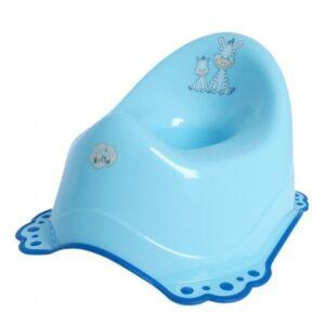 Детско гърне Zebra, гумирано синьо - За бебето - Детска и бебешка тоалетна - Гърнета