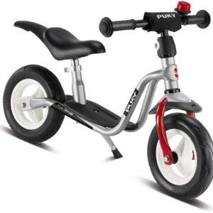 Детско колело без педали със степенка и звънец PUKY LR M PLUS - сребристо и червено - Играчки за навън - Балансиращи колела