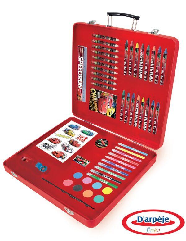 Детско метално куфарче за рисуване - Disney Cars - Детски играчки - Образователни играчки - Disney Cars