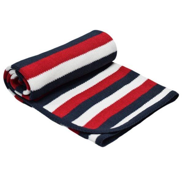 Детско одеяло на райе графит - За бебето - Аксесоари за детска стая - Завивки / Одеяла