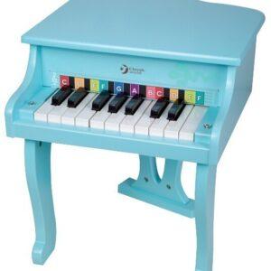 Детско пиано - синьо - Детски играчки - Музикални инструменти - Дървени играчки
