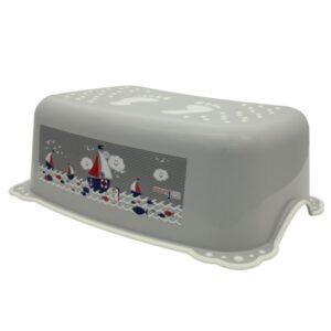 Детско стъпало за баня - Океан и море сиво - За бебето - Детски и бебешки аксесоари за баня - Стъпала за баня
