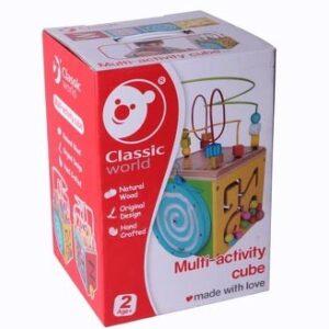 Дидактически дървен куб - Детски играчки - Образователни играчки - Дървени играчки