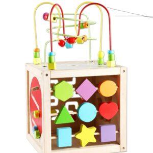 Дидактически детски куб - Детски играчки - Образователни играчки - Дървени играчки
