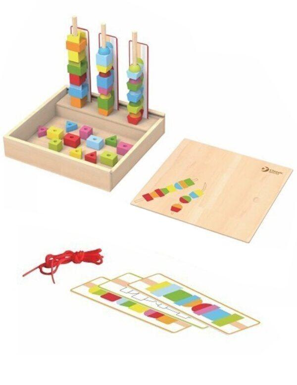Геометрични фигури за нареждане - Детски играчки - Образователни играчки - Дървени играчки