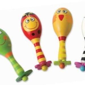 Големи маракаси за малки деца - Детски играчки - Музикални инструменти - Дървени играчки