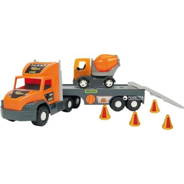 Голям камион играчка с ремарке и малък бетоновоз - Детски играчки - Детски камиончета и коли