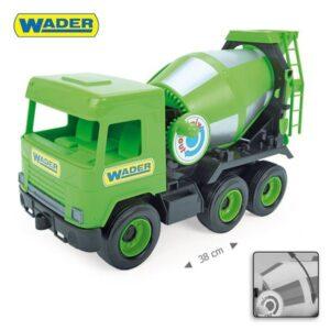 Голям зелен Камион бетоновоз за игра - Детски играчки - Детски камиончета и коли