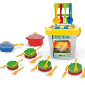 Готварска печка с аксесоари - 31 елемента - Детски играчки - Кухни за игра - комплекти и консумативи