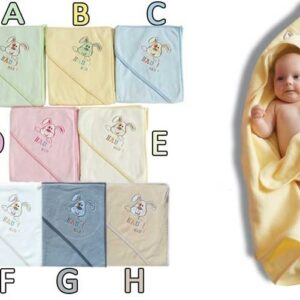 Хавлия за деца с качулка - Куче бяла - За бебето - Детски и бебешки аксесоари за баня - Хавлии и кърпи за баня