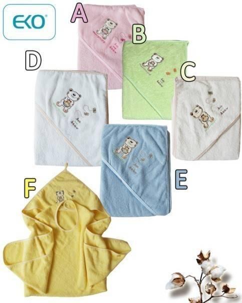 Хавлия за деца с качулка - мече бяла - За бебето - Детски и бебешки аксесоари за баня - Хавлии и кърпи за баня
