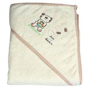 Хавлия за деца с качулка - мече екрю - За бебето - Детски и бебешки аксесоари за баня - Хавлии и кърпи за баня