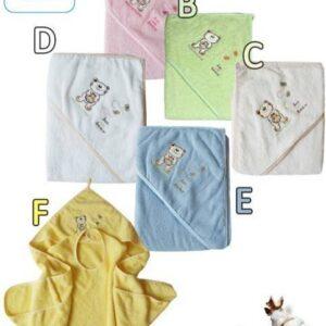 Хавлия за деца с качулка - мече светло зелена - За бебето - Детски и бебешки аксесоари за баня - Хавлии и кърпи за баня