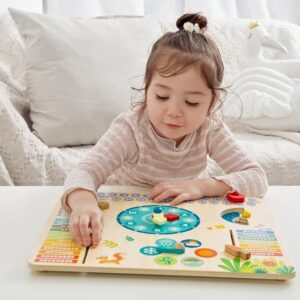 Играчка - часовник с календар Горски обитатели - Детски играчки - Образователни играчки - Дървени играчки