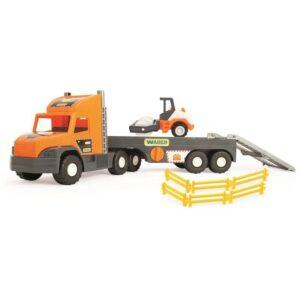 Играчка голям камион с ремарке и валяк - Детски играчки - Детски камиончета и коли