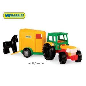 Играчка трактор с ремарке и конче - Детски играчки - Детски камиончета и коли
