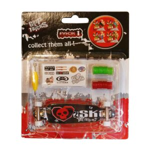 Играчка за пръсти LONG BOARD, черен, с череп - Детски играчки - Играчки за пръсти - Фингърбордове
