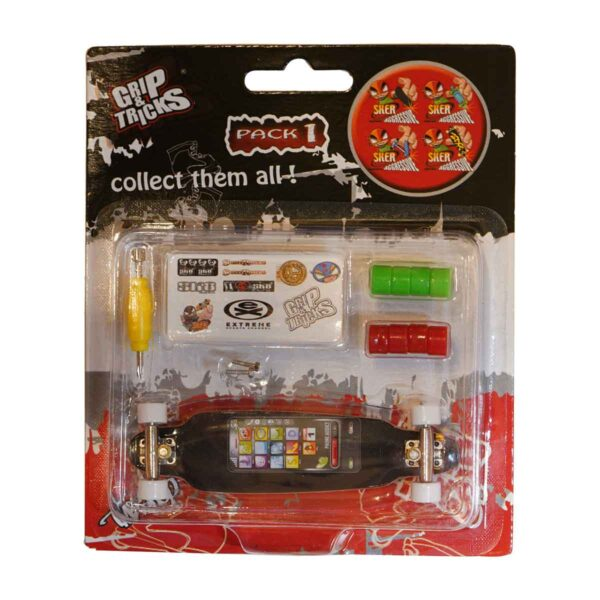 Играчка за пръсти LONG BOARD, черен, с екран - Детски играчки - Играчки за пръсти - Фингърбордове
