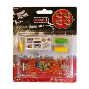 Играчка за пръсти LONG BOARD, червен, с емоджита - Детски играчки - Играчки за пръсти - Фингърбордове