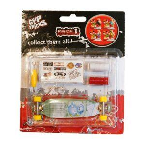Играчка за пръсти LONG BOARD, тюркоаз, с емоджита - Детски играчки - Играчки за пръсти - Фингърбордове